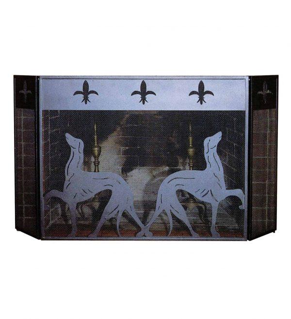 "50""W X 30""H Greyhound Folding Fireplace Screen 29440"