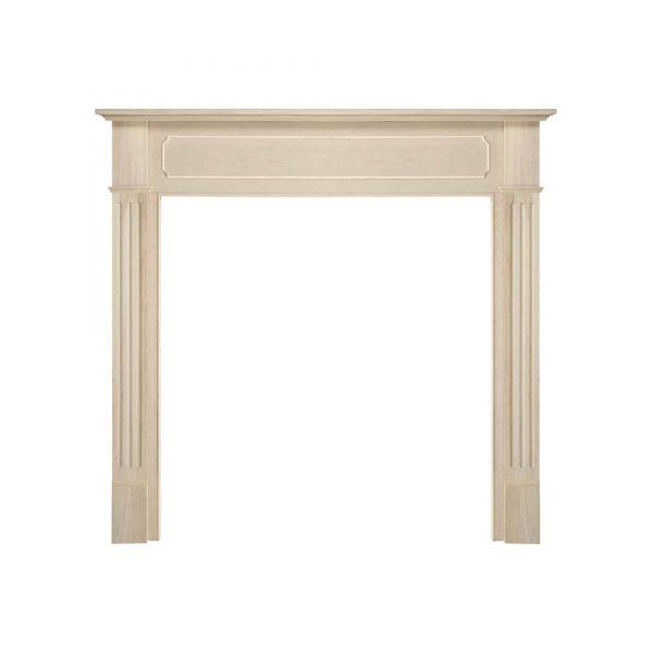 "52"" Ivory The Williamsburg 48 Fireplace Mantel Unfinished 1"