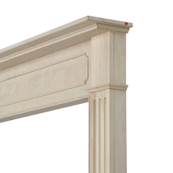 "52"" Ivory The Williamsburg 48 Fireplace Mantel Unfinished 6"