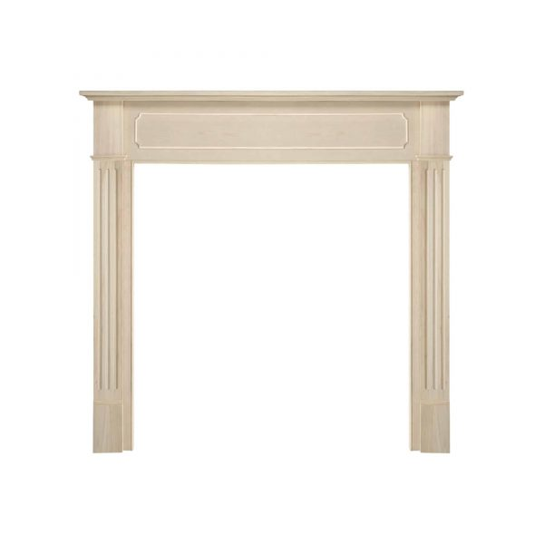 "52"" Ivory The Williamsburg 56 Fireplace Mantel Unfinished 1"