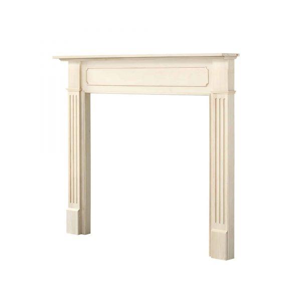 "52"" Ivory The Williamsburg 56 Fireplace Mantel Unfinished 4"