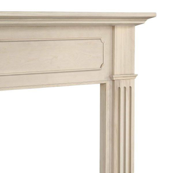 "52"" Ivory The Williamsburg 56 Fireplace Mantel Unfinished 5"