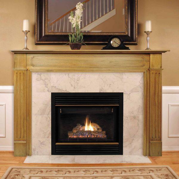 "52"" Ivory The Williamsburg 56 Fireplace Mantel Unfinished"