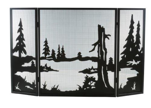 "52""W X 32""H Quiet Pond Folding Fireplace Screen 81150"