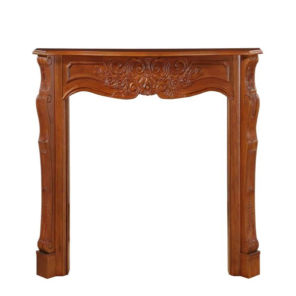 """53.5"""" Brown The Deauville Fireplace Mantel Fruitwood Finish 2"""