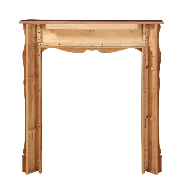 """53.5"""" Brown The Deauville Fireplace Mantel Fruitwood Finish 3"""