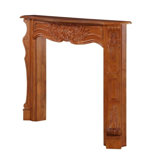 """53.5"""" Brown The Deauville Fireplace Mantel Fruitwood Finish 6"""