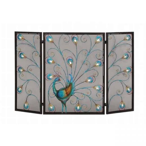 55275 The Colorful Metal Fireplace Screen