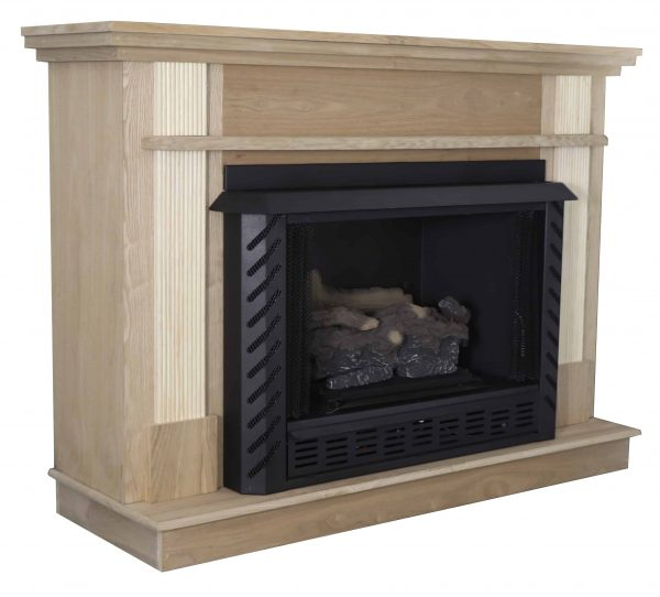 56-1/2 in. x 40-1/2 in. Unfinished Wood Mantel 4