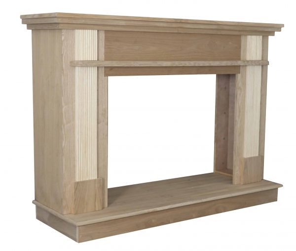 56-1/2 in. x 40-1/2 in. Unfinished Wood Mantel