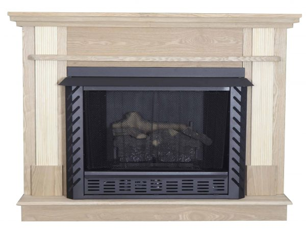 56-1/2 in. x 40-1/2 in. Unfinished Wood Mantel 7