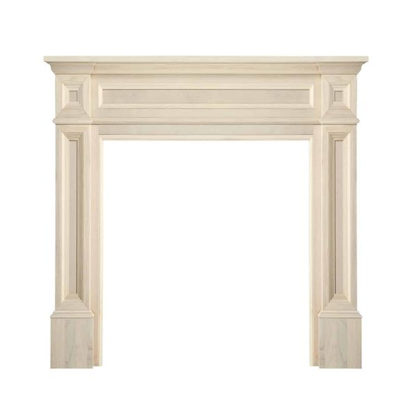 """56"""" Ivory The Classique Fireplace Mantel Unfinished 1"""