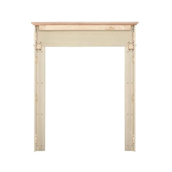 """56"""" Ivory The Classique Fireplace Mantel Unfinished 5"""