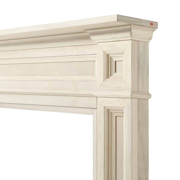 """56"""" Ivory The Classique Fireplace Mantel Unfinished 6"""