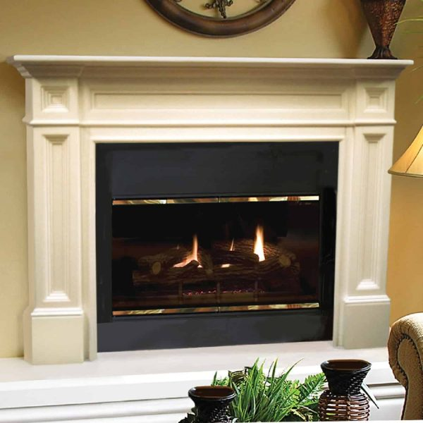 """56"""" Ivory The Classique Fireplace Mantel Unfinished"""