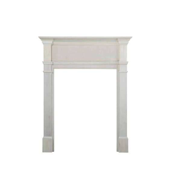 "57"" White The Windsor Fireplace Mantel Unfinished 1"