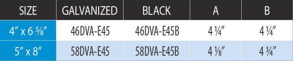 """5"""" X 8"""" Directvent Pro 45 Degree Swivel Galvanized Elbow 2"""