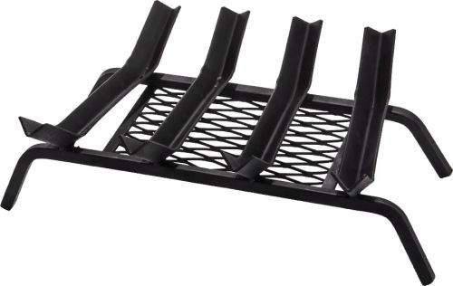 6 Bars Black Steel Grate - 29 inch