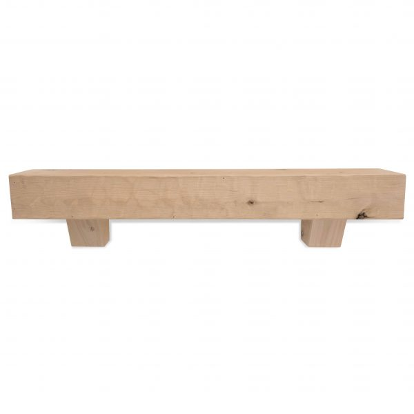 60 in. Rough Hewn Unfinished Fireplace Mantel with Corbels