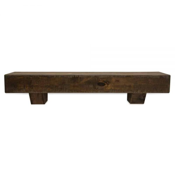 60 in. Rustic Dark Chocolate Fireplace Mantel with Corbels