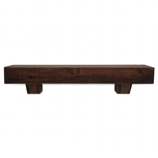 60 in. Rustic Mahogany Fireplace Mantel with Corbels