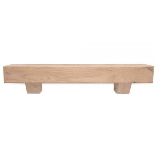 60 in. Rustic Unfinished Fireplace Mantel with Corbels