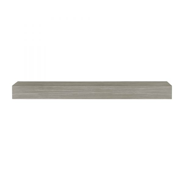 "60"" Gray Wash Finish Zachary Non-Combustible Mantel Shelf"