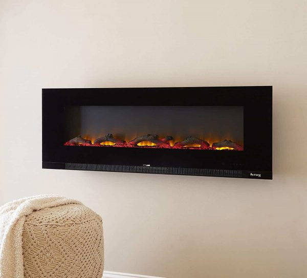 "60"" Ultra-slim LED Wall-mount Electric Fireplace w/ 9 Color Ambiance Options by e-Flame USA 5"