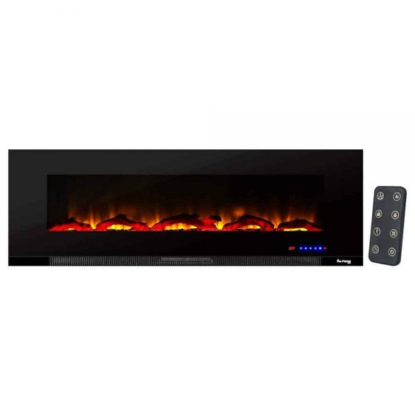 "60"" Ultra-slim LED Wall-mount Electric Fireplace w/ 9 Color Ambiance Options by e-Flame USA"