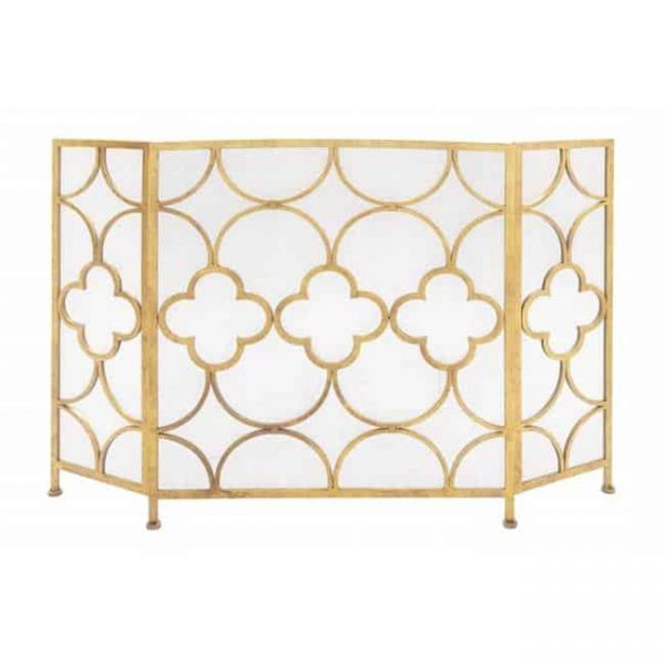 67053 The Yellow Metal Fireplace Screen