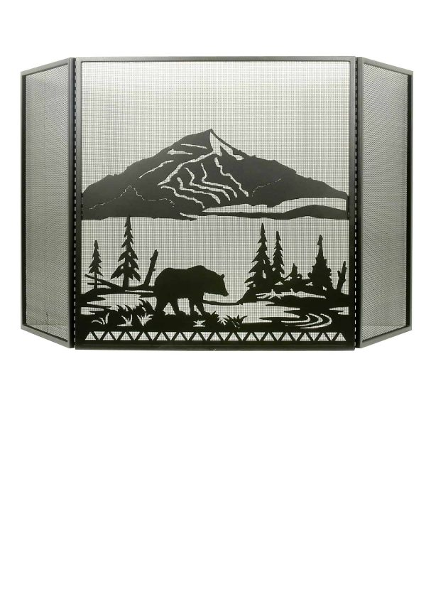 "69""W X 42""H Bear Creek Folding Fireplace Screen 31616"