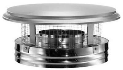 """6"""" Stainless Steel Chimney Cap With Spark Arrestor Screen"""