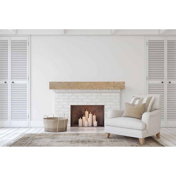 "6""H x 6""D x 48""W Riverwood Faux Wood Fireplace Mantel, Unfinished 7"