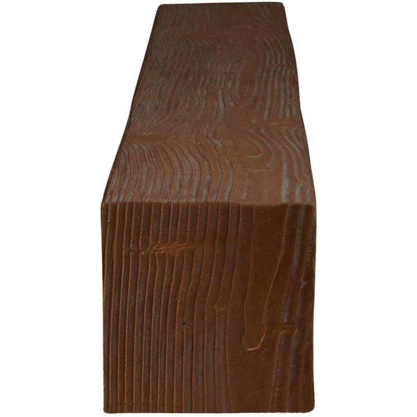 "6""H x 6""D x 48""W Sandblasted Faux Wood Fireplace Mantel, Pecan 2"