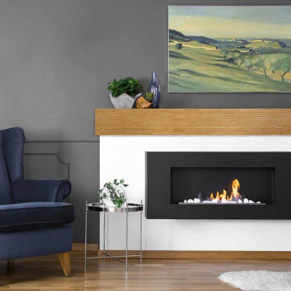 "6""H x 6""D x 48""W Sandblasted Faux Wood Fireplace Mantel, Pecan 4"