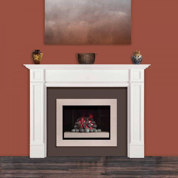 "72"" White Paint Marshall Fireplace Mantel MDF 2"
