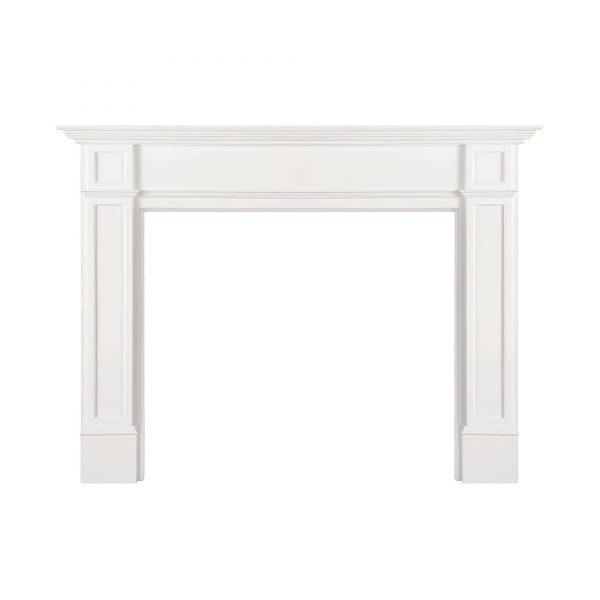 "72"" White Paint Marshall Fireplace Mantel MDF"