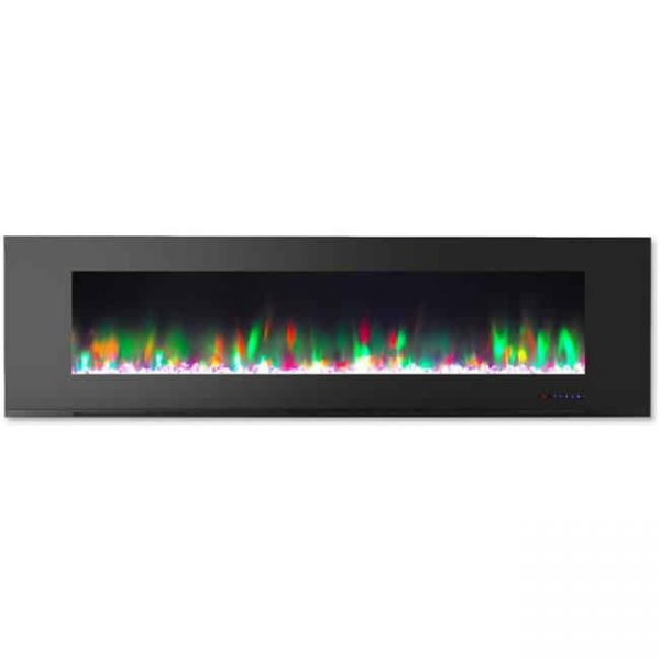72 in. Color Changing Wall Mount Electric Fireplace