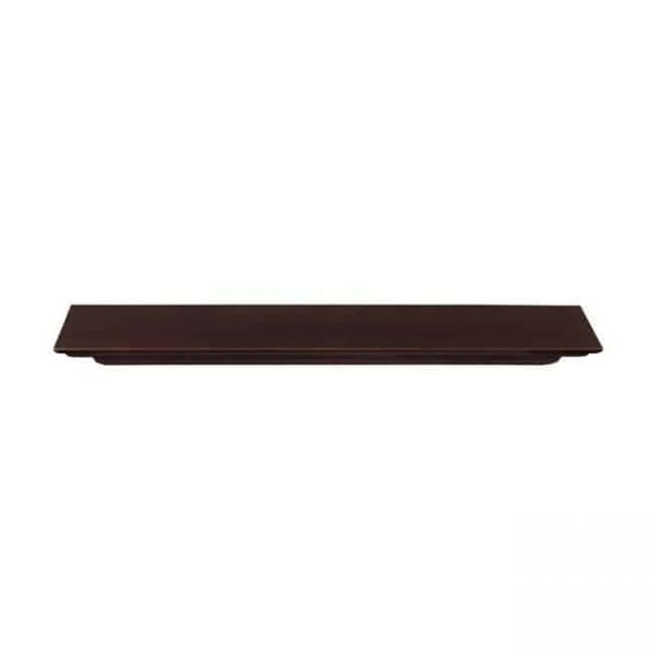72 in. Crestwood MDF Fireplace Mantel Shelf - Chocolate Brown Paint