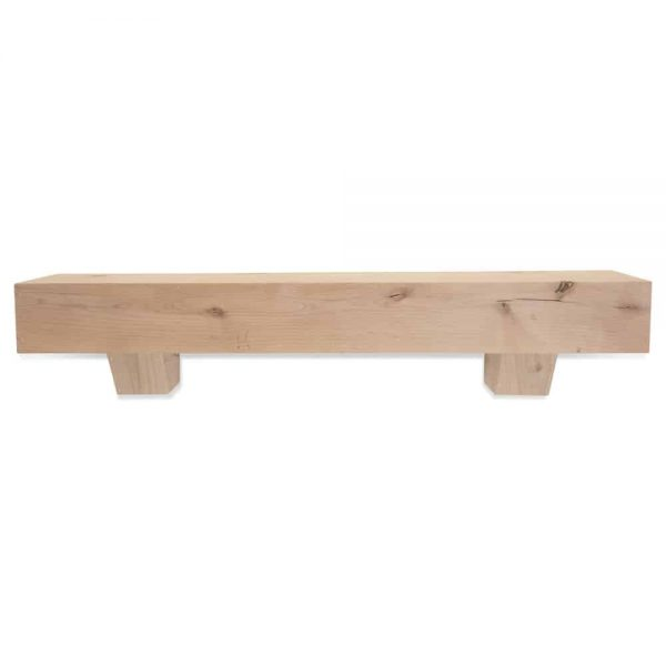 72 in. Modern Farmhouse Unfinished Fireplace Mantel With Corbels