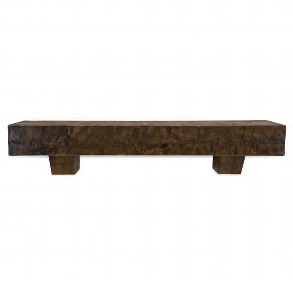 72 in. Rough Hewn Dark Chocolate Fireplace Mantel with Corbels