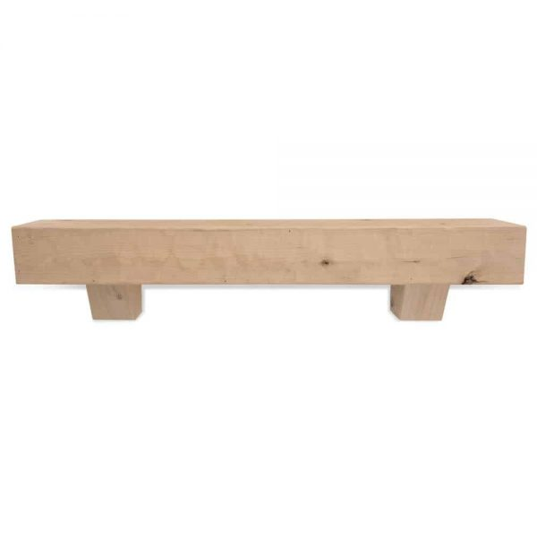72 in. Rough Hewn Unfinished Fireplace Mantel with Corbels