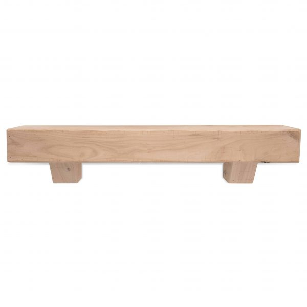 72 in. Rustic Unfinished Fireplace Mantel with Corbels