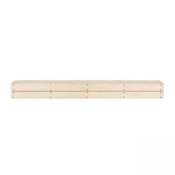 72 in. The Cades Cove Pallet Mantel Shelf - Unfinished