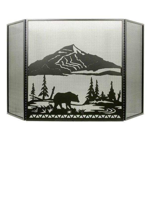 "74""W X 40""H Bear Creek Folding Fireplace Screen 31617"