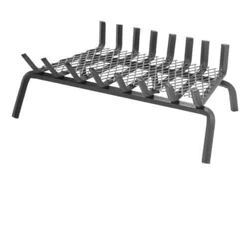 "8 Bars Ember Series Fireplace Grate w/6"" Clearance and Center Leg"