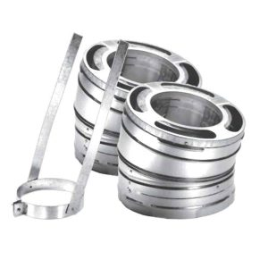 8'' DuraPlus 30 Degree Stainless Steel Elbow - Set of Two