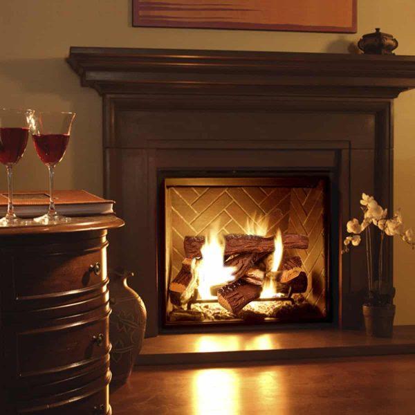 8 PC Decorative Realistic Flame Petite Fireplace Ceramic Wood Log Set 1