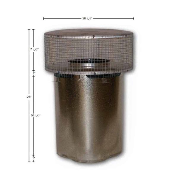 8'' Superior Round Chimney Cap with Mesh 1