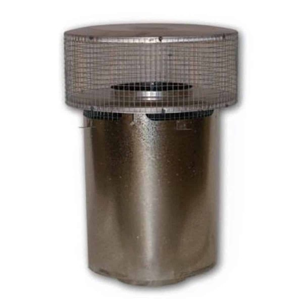 8'' Superior Round Chimney Cap with Mesh